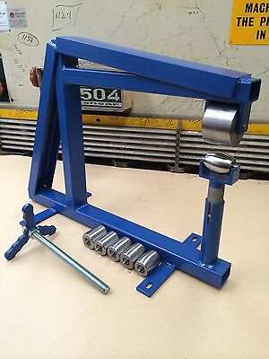 Bench Or Vice English Wheel With 6 Anvils, Complete Setup, Wheeling Machine