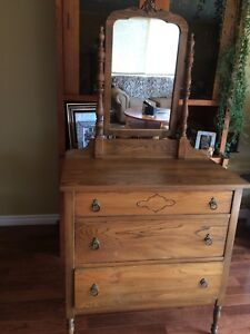 SOLID ANTIQUE DRESSER