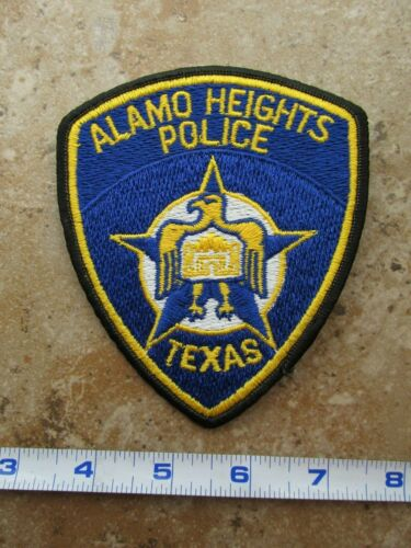 OBSOLETE Vintage State of Texas San Antonio Alamo Heights Police Patch A