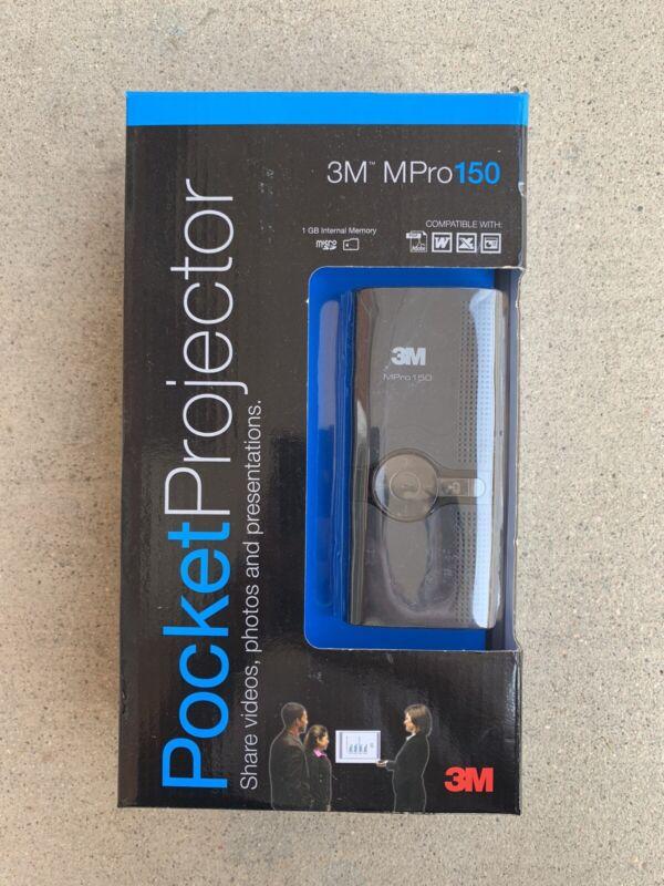 3M Mpro150 Pocket Projector (XR006236842) - Black w/ Internal Memory Photo/video