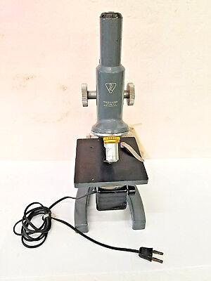 Vtg Bausch Lomb Sta Monocular Microscope43x 10x Wattached Light Source