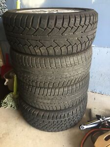 selling both rim and tires 215/50r17, 5-bolt 108.