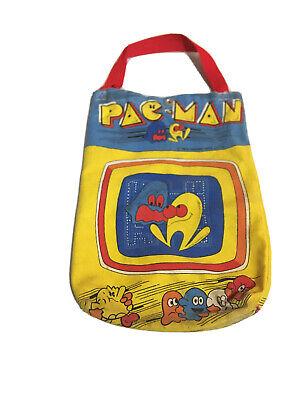 Vintage 1982 PacMan Pac Man School Tote Bag Children Arcade Series Preowned