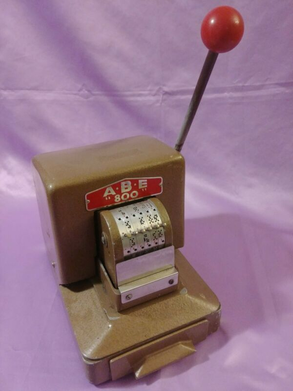 ABE 800 Document Perforator  Manually Operated document perforator Banking A.B.E