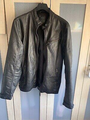 Faux Leather Biker Jacket - Size M
