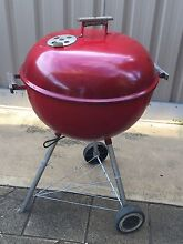 Weber Kettle BBQ Red - 57,camping,fishing, good for summer Parafield Gardens Salisbury Area Preview