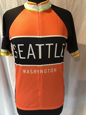 Kaidel Sportswear Cycling Bike Jersey SEATTLE WASHINGTON Orange black Women  Larg 5b43ca250