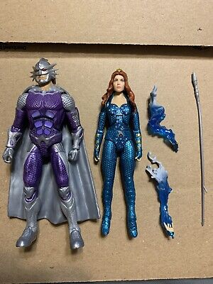 DC MULTIVERSE AQUAMAN MOVIE OCEAN MASTER AND MERA ACTION FIGURES LOT OF 2 LOOSE