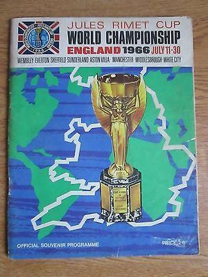 England World Cup 1966 Official Souvenir Brochure July 11 - 30