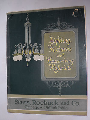 VINTAGE 1924 SEARS LIGHTING FIXTURES, LAMPS & WIRING CATALOG! INDOOR & OUTDOOR!