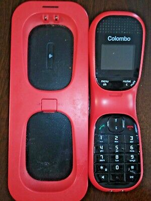 RED ITALIAN STATIONARY HOUSE PHONE INSTALLATION CORDS INCLUDED COLOMBO