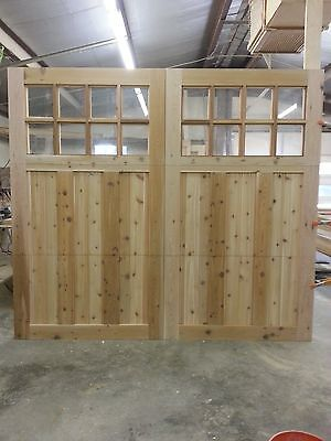 8 x 7 Western Red Cedar Sectional O/H Carriage House Garage -