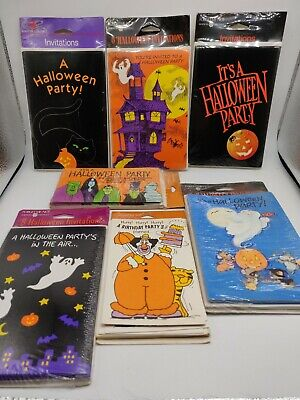 Invitations Halloween Party (Lot Of 56 Halloween Party Invitations American Greetings Ghosts)