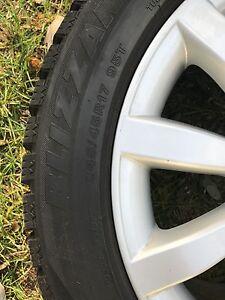 Mercedes Benz OEM wheels with Bridgestone blizzak ws70 Oakville / Halton Region Toronto (GTA) image 5