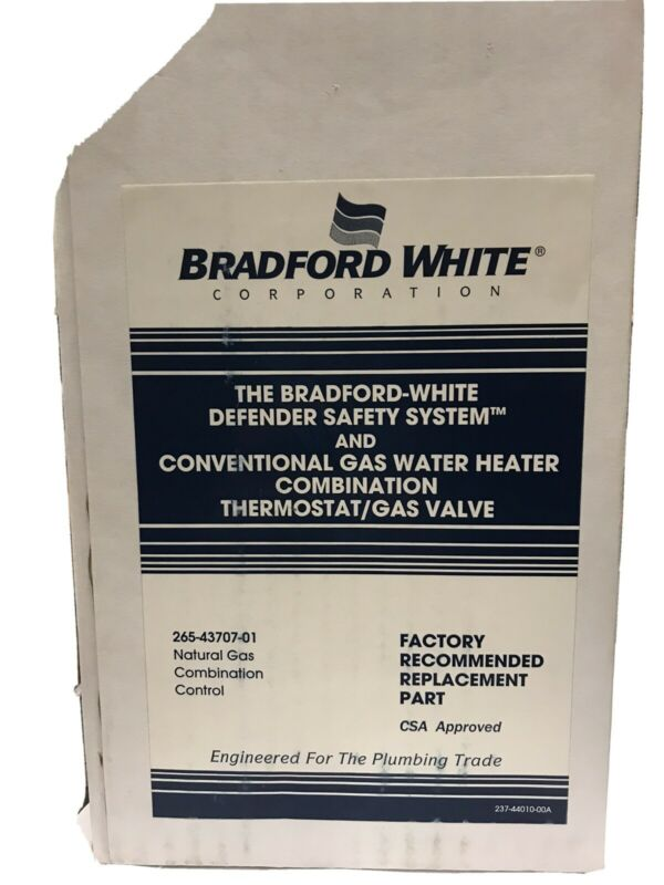 Bradford White 265-43707-01 Natural Gas Valve 30/40/50 Gallon w/ Heater