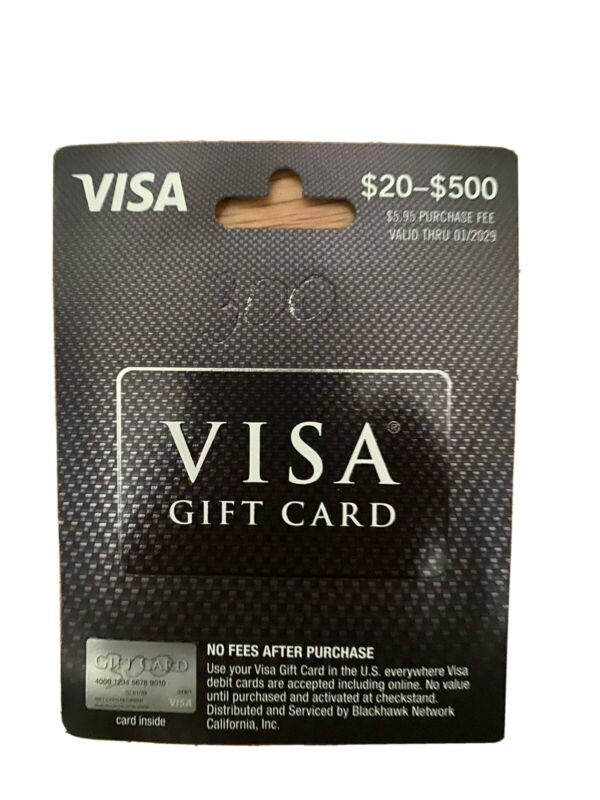 $400 Gift Card! Activated! NO FEES! Best Price! Free Shipping!