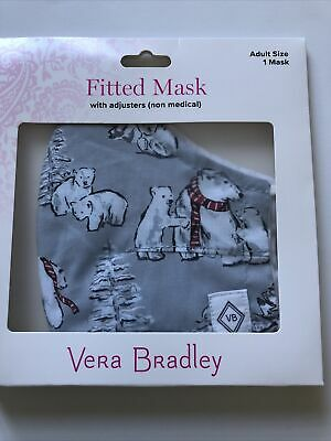 ❄️❄️Vera Bradley NWT Cotton Face Mask Beary Merry Gray