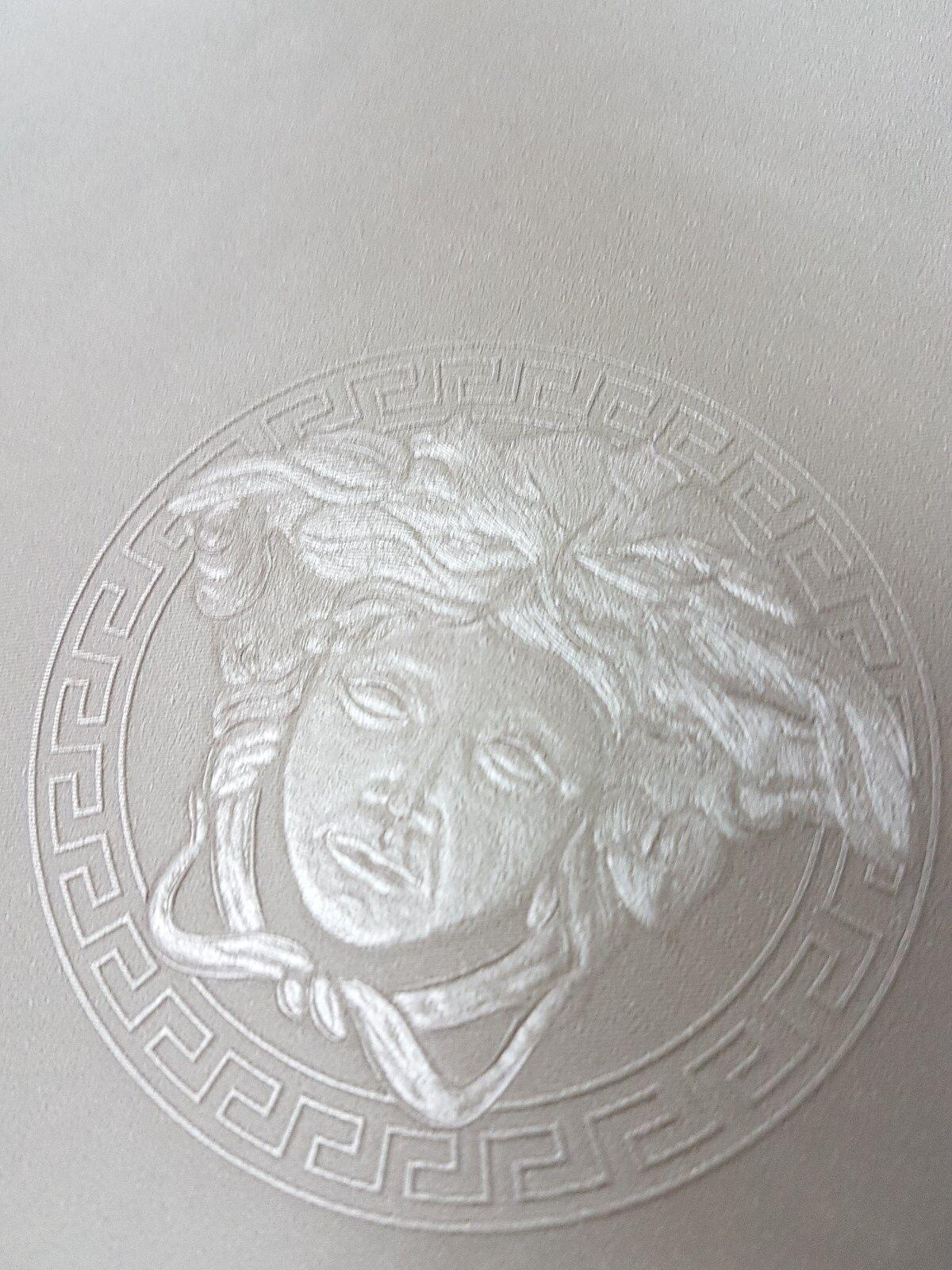 Versace 34862-3 Home Medusa Silver Grey Metallic Designer Wallpaper ...