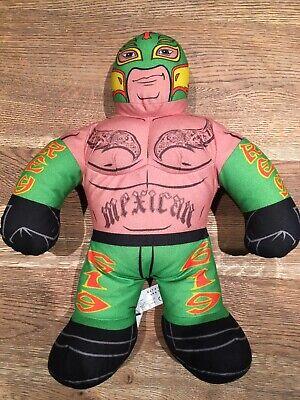 """2011 Rey Mysterio WWE Brawlin Buddies 16"""" Tall Plush Talking Soft Toy Wrestler"""