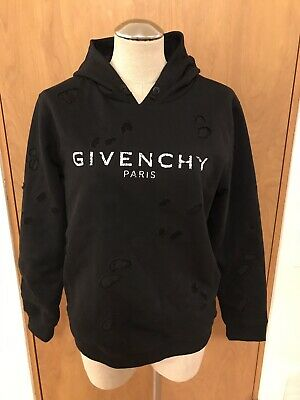 NWT Givenchy Distressed Black Logo Hoodie Sweatshirt, Boys 12+, SOLD OUT!!!