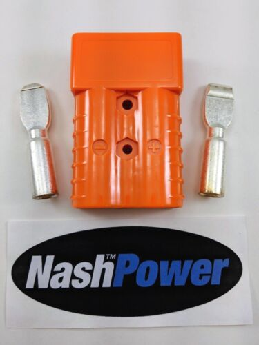 350 Amp Orange 2/0 AWG Battery Connector Replaces Anderson 350 Amp