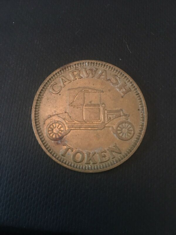 Vintage Car Wash Token with Antique Car on Observe