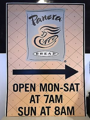 Panera Bread Store Hours Official Authentic Sign Extremely Rare One Of A Kind