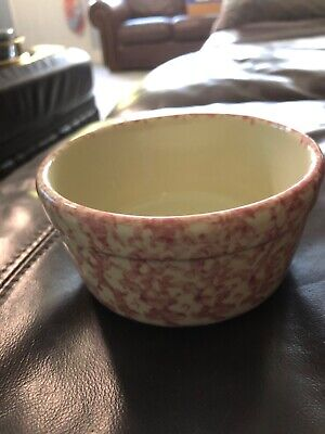 "Roseville Spongewear Workshops of Gerald E. Henn Rose 5"" All Purpose Bowl EUC"