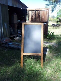 Large Timber A Frame Chalkboard with chalkboard on both sides