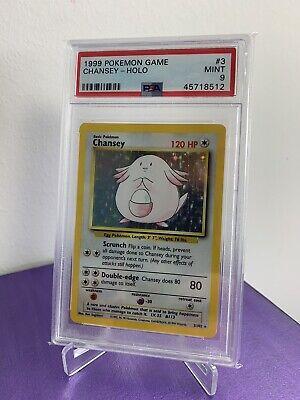 PSA 9 MINT Chansey 3/102 Base Set HOLO RARE Pokemon Card