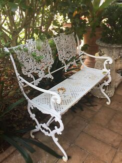 CAST IRON, WROUGHT IRON, OUTDOOR FURNITURE. SEE LISTING.