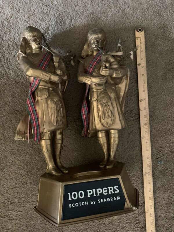 Vintage Seagrams 100 Pipers Scotch Collector Display Piece