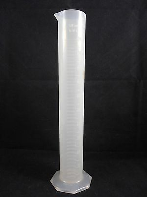 Vwr Plastic Pp Polypropylene 500ml Single Scale Graduated Cylinder 65000-010