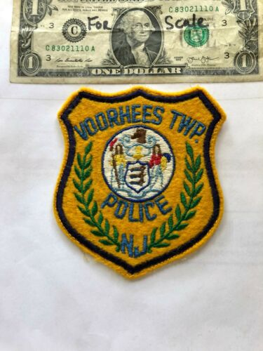 Voorhees New Jersey Police Patch Pre-sewn in good Shape