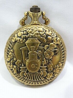 Mickey Mouse Railroad Pocket Watch by Sutton 1993 Walt Disney World