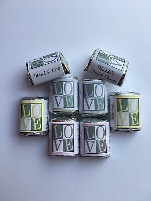 60 Bridal Shower Love Candy Wrappers -