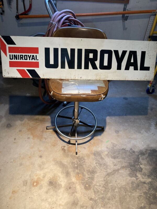 Vintage Uniroyal Metal Sign Original