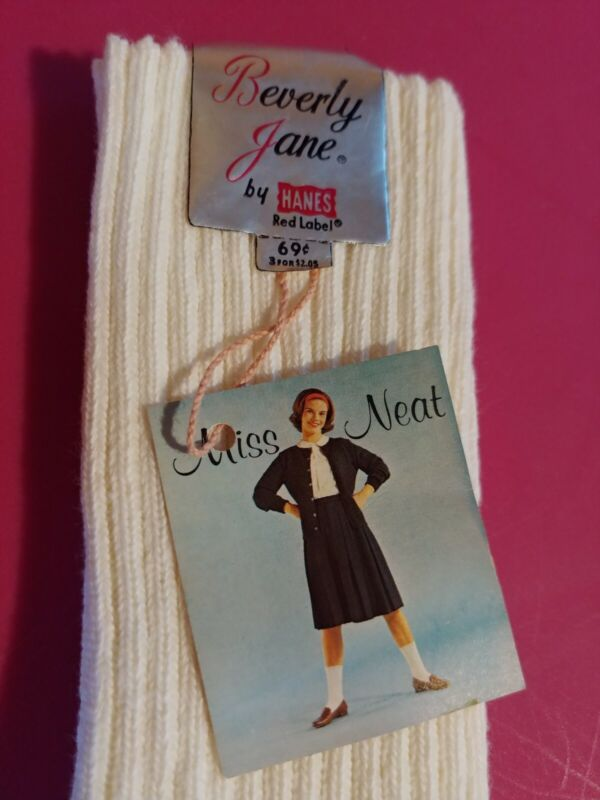 Vintage Beverly Jane By Hanes White Socks Women