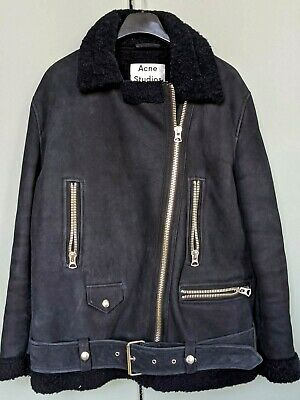 Acne Studios shearling navy winter coat, size 36, excellent condition