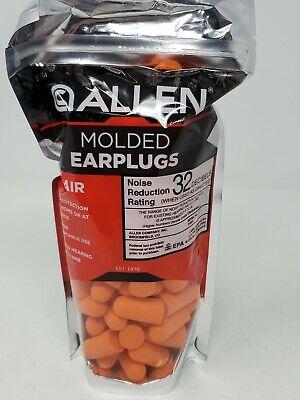 50 Pair Allen Molded Foam Ear Plugs Hearing Protection Hunting Range Npr 32 Db