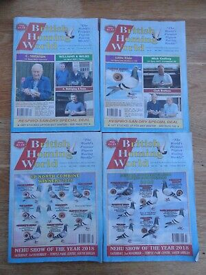 4x British Homing World racing pigeon birds magazines back issue October 2018