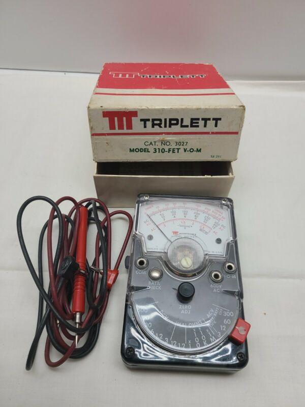 Vintage Triplett Multimeter  310-FET Rare Model Untested
