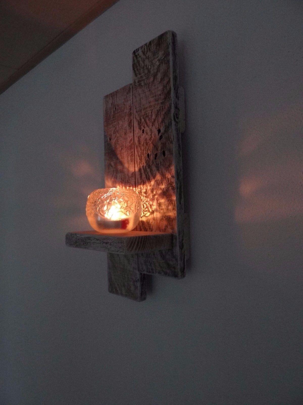 wandkerzenhalter kerzenhalter teelichthalter holz shabby landhaus rustikal eur 17 99 picclick de. Black Bedroom Furniture Sets. Home Design Ideas
