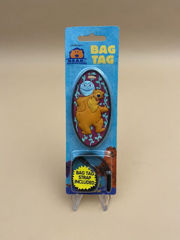 Vintage Disney 1998 ~ Bear In The Big Blue House ~ Rubber Luggage Bag Tag ~ NEW!