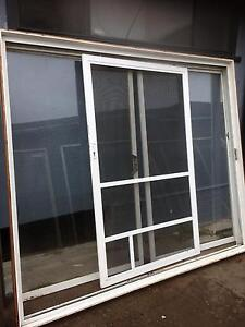 White aluminium sliding door Casula Liverpool Area Preview