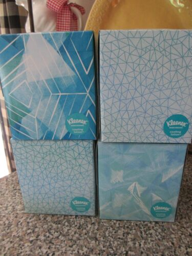 4 Kleenex Cooling Lotion Facial Cubes 45 Sheets Each Instant Cooling Relief