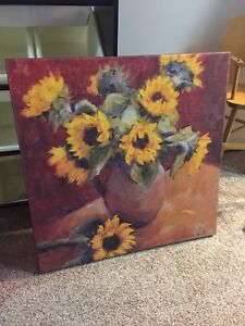 Sunflower painting - home decor