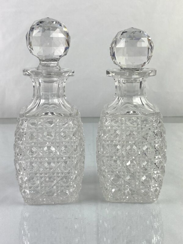 Pair of Hand Cut Crystal Decanters