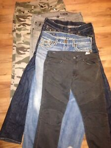 Selling True Religion Jeans and Hoodie  pairs sz 32-34