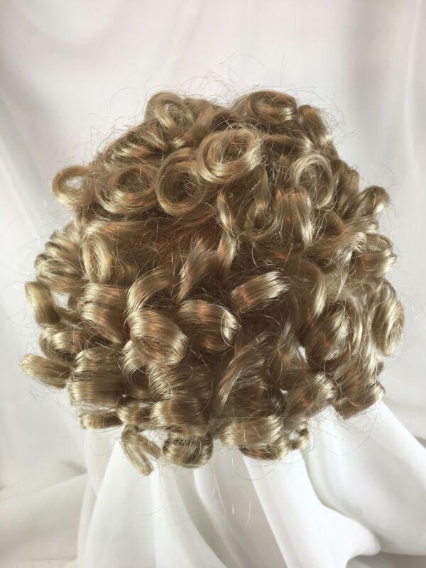"""10/11"""" Bouncy Curls Blonde Doll Wig Reborn OOAK BJD Ceramic Repair DOTTIE"""